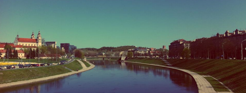 View of the Neris in Vilnius